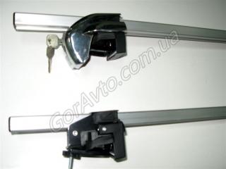 Багажник на Киа Спортейдж: RB 120 на рейлинги, алюминиевый, с замками