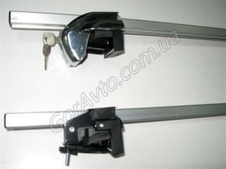Багажник на ВАЗ 2111: RB-120 на рейлинги, алюминиевый, с замками